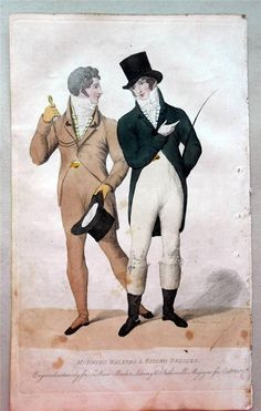 1807 Beau Monde Regency Fashion Men's Morning Walking & Riding