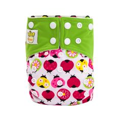 Baby' Reusable & Washable & Adjustable Pink Ladybug Parade Cloth Diaper with Insert, 20% discount @ PatPat Mom Baby Shopping App