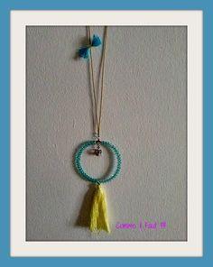 Light blue rosary with tassel !!!!!!!