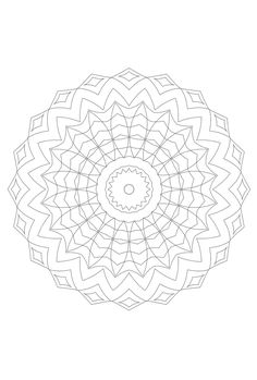 Flower mandala - as template for embroidery coloring pages m Mandalas Painting, Mandalas Drawing, Mandala Coloring Pages, Colouring Pages, Free Coloring, Coloring Books, Zentangle, Henna Style, Doodle Patterns