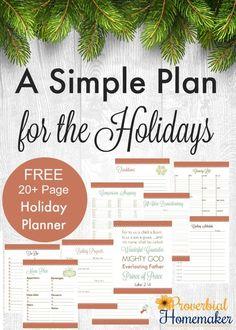 Making a Simple Plan