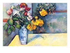 NEW 24x36 POSTER CEZANNE Vase de Tulipes Art Print