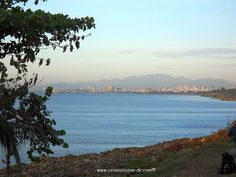 View of Santo Domingo and the Caribbean Sea