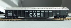 HO-Scale-C-amp-EI-Coal-Car-Chicago-and-Eastern-Illinois-82005-Empty-with-Cover