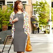 Save up to 65% off during the Florals Meet Stripes in Plus-Sizes event on #zulily today!