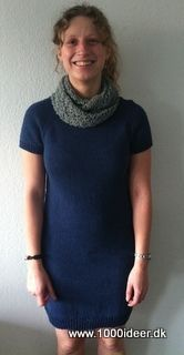 Klik for at se et større billede High Neck Dress, Knitting, Sweaters, How To Wear, Model, Tops, Dresses, Crafts, Diy