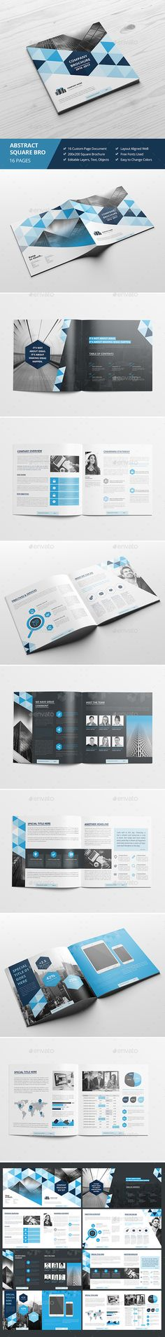 Haweya Abstract Square Brochure Template InDesign INDD. Download here…