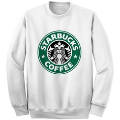 Starbucks Sweatshirt Crewneck Sweater for Men Women (Unisex) - Color... ($27) ❤ liked on Polyvore featuring tops, hoodies, sweatshirts, sweaters, shirts, logo sweatshirts, crew neck shirts, white crewneck sweatshirt, crew neck sweat shirt and crewneck shirt