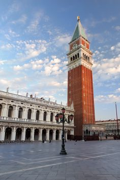 St. Mark's Square and the Bell Tower in Venice. Will you be traveling to Venice soon?