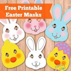 Easter Masks Free Printable - Bunny Rabbits and Chicks