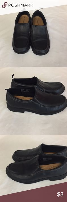 Black George Loafers. Black with lite signs of wear on shoes and bottoms. George Shoes