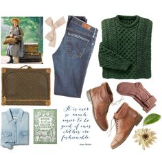 Modern Anne of Green Gables by angelc on Polyvore featuring Madewell, AG Adriano Goldschmied, Fat Face, Jayson Home, modern, anneofgreengables, anneshirley and LMMontgomery