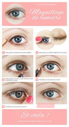 Maquillage des yeux : un maquillage de lumière sur mes yeux !