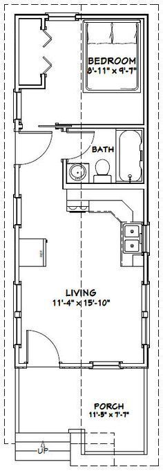 12x32 Tiny House -- #12X32H1B -- 384 sq ft - Excellent Floor Plans
