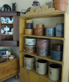 Old Crocks & Pantry Boxes...HomeSpunPrims.