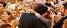 Adam Driver hugging and kissing a fan!