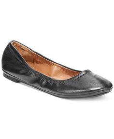 Lucky Brand Leather Emmie Flats - Flats - Shoes - Macy's