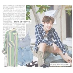 Hoseok: i think about you. do you think about me? by yxing on Polyvore featuring…