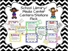 Center/ Stations signs for Library/Media Center  $ on TpT