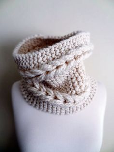 Beige / Bone Colour Knit Chunky Cowl / Neckwarmer  More by Shopika, $31.90
