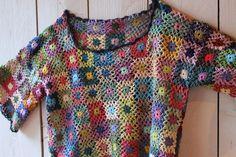 Chez Facile crochet squares top - beautiful