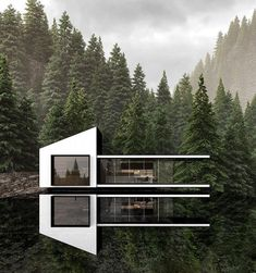 Architecture Cool, Famous Buildings, Forest House, Modern House Design, Contemporary Design, Exterior Design, Instagram, Homes, Inspiration