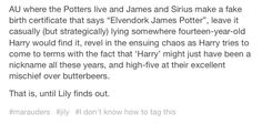 James and Sirius prank harry