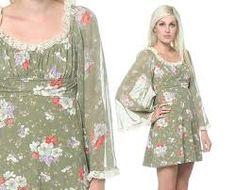 1970s style peasant dress