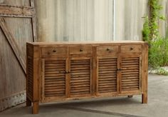 Rustic Shutter Cabinet -