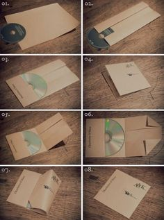 This idea is great! Would be nice to store each of the families funeral slideshow disks...Much nicer than the white generic paper sleeves by ruth