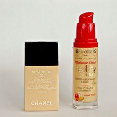 Chanel Vitalumiere Aqua VS Bourjois Healthy Mix foundation: �������� ����������