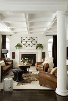 Researching ceilings...I think this coffered is too deep for me.