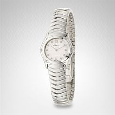 Ebel Classic Wave Women's Watch in Stainless Steel With Diamond