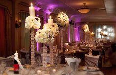 Centerpieces, Tablescapes, Wedding Design, Wedding Flowers, High Centerpieces, White Wedding Inspirations