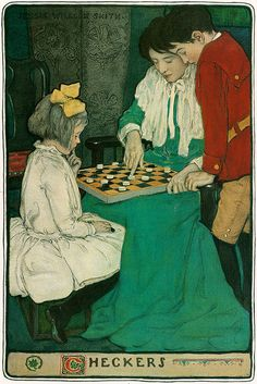 Jessie Willcox Smith 'A Mother's Days' 'Checkers' 1902 | Flickr