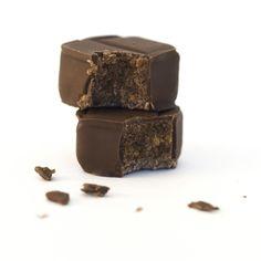 Rio Caribe: artisan made almond hazelnut praline in milk chocolate.