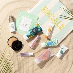 """Dans votre maxi pochette """"Escale"""", retrouvez une sélection  beauté 100% summer d'une valeur minimum de 100€ � #birchboxfr #escale #summer #beauty"""