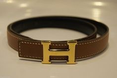 AUTHENTIC HERMES Gold BELT 24 1/2 inches size 65 cm Brown Leather H LOGO 24mm. Get the lowest price on AUTHENTIC HERMES Gold BELT 24 1/2 inches size 65 cm Brown Leather H LOGO 24mm and other fabulous designer clothing and accessories! Shop Tradesy now