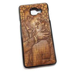 Чехол для Galaxy A7'16 из дерева кусия, ручная работа, Талдыкин