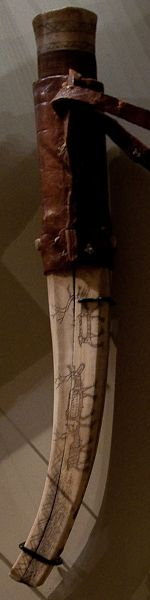 Saami knife and sheath
