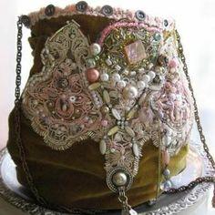 The Theatre bag - vintage velvet   TAFA: The Textile and Fiber Art List