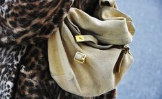 army satchel and leopard