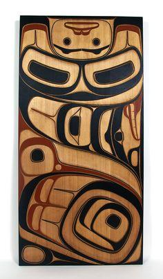 Phil Gray Red Cedar Killerwhale Panel, Northwest Coast Native Art