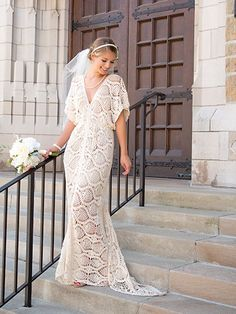 Crocheted wedding dress patterns crochet wedding dress inspiration gorgeous wedding dress found in annies craft store crochet spring 2017 799 download junglespirit Images