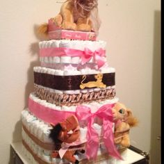Lion King Diaper Cake... Want this for my next baby's theme boy or girl