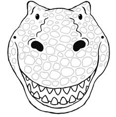 Dinosaur Mask Template Print - NextInvitation Templates