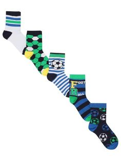 Football socks five pack Kids Boys, Baby Kids, Football Socks, Boys Socks, Cotton Socks, Packing, Fabric, Collections, Fashion