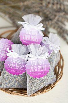 Style Your Soirée   DIY English Lavender Linen Sachets