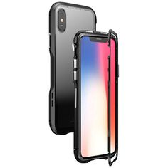 6a51453ac66 [US$19.99] Luphie Magnetic Adsorption Metal Tempered Glass Protective Case For  iPhone X Clear