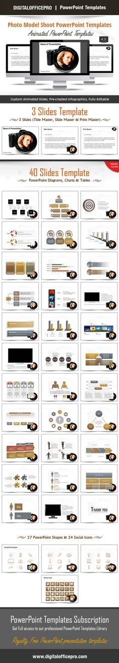 Impress and Engage your audience with Photo Model Shoot PowerPoint Template and Photo Model Shoot PowerPoint Backgrounds from DigitalOfficePro. Each template comes with a set of PowerPoint Diagrams, Charts & Shapes and are available for instant download.
